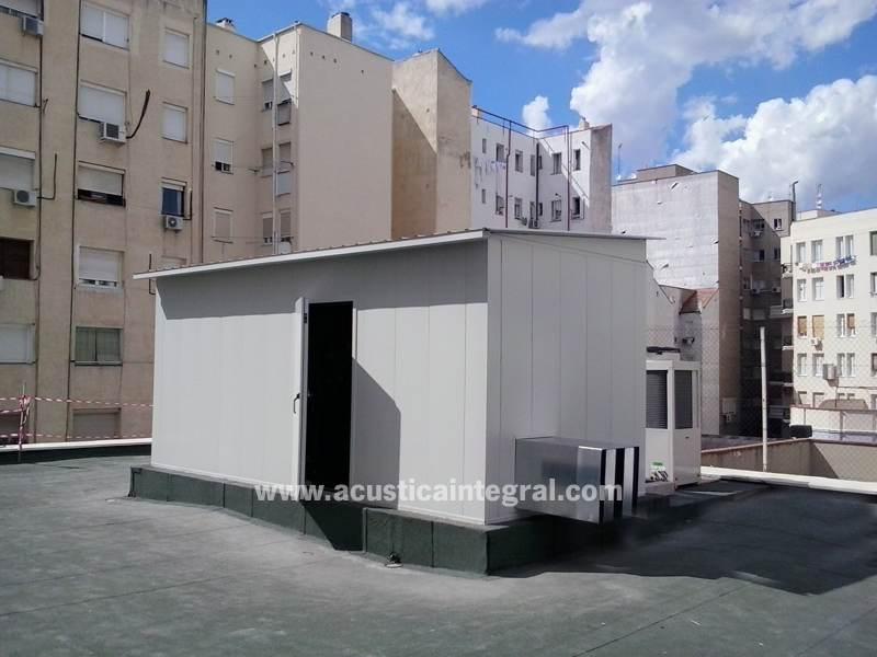 Acoustic enclosure for air compressor noise control