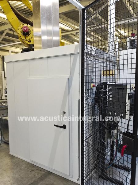 Acoustic enclosure for high pressure fan
